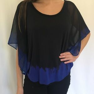 Calvin Klein blouse with butterfly sleeves.